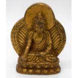 A small Chinese Tibetan bronze Buddha 7 cm.