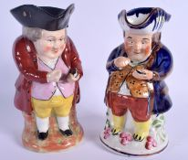 TWO ENGLISH CHARACTER TOBY JUGS. 23.5 cm high. (2)