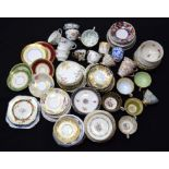Huge collection of ceramic tea cups, saucers plates. (Qty)
