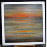 Nikki d'Aguilar abstract oil on canvas 76 x 76cm.