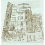 Collection of Sepia Prints Charing Cross Hospital by Ken Howard 48 x 35 cm (12)