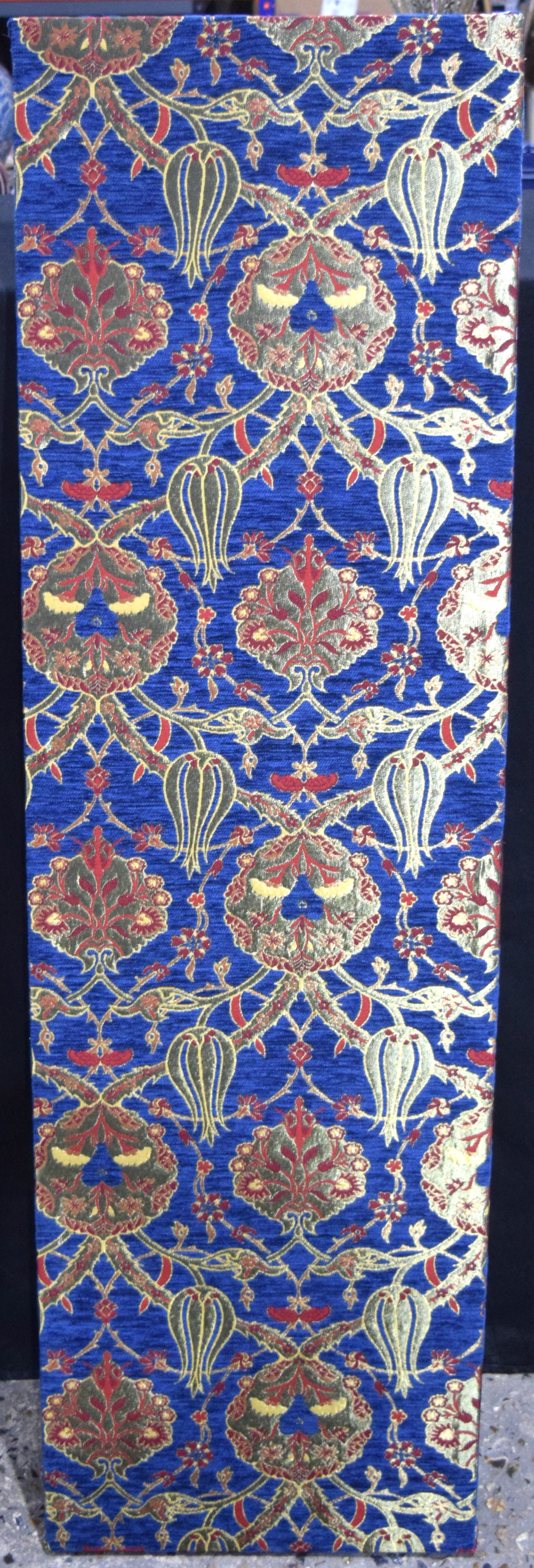 A large Turkish fabric panel 40 x 139cm .