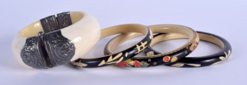 ASSORTED CONTINENTAL ANTIQUE IVORY JEWELLERY. (qty)