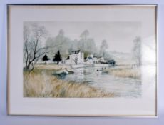 Jeremy King (20th Century) Pair, Lithographs, Limited Edition. Image 75 cm x 56 cm.