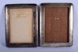 TWO VINTAGE PHOTOGRAPH FRAMES. 688 grams overall. Largest 21 cm x 16 cm. (2)