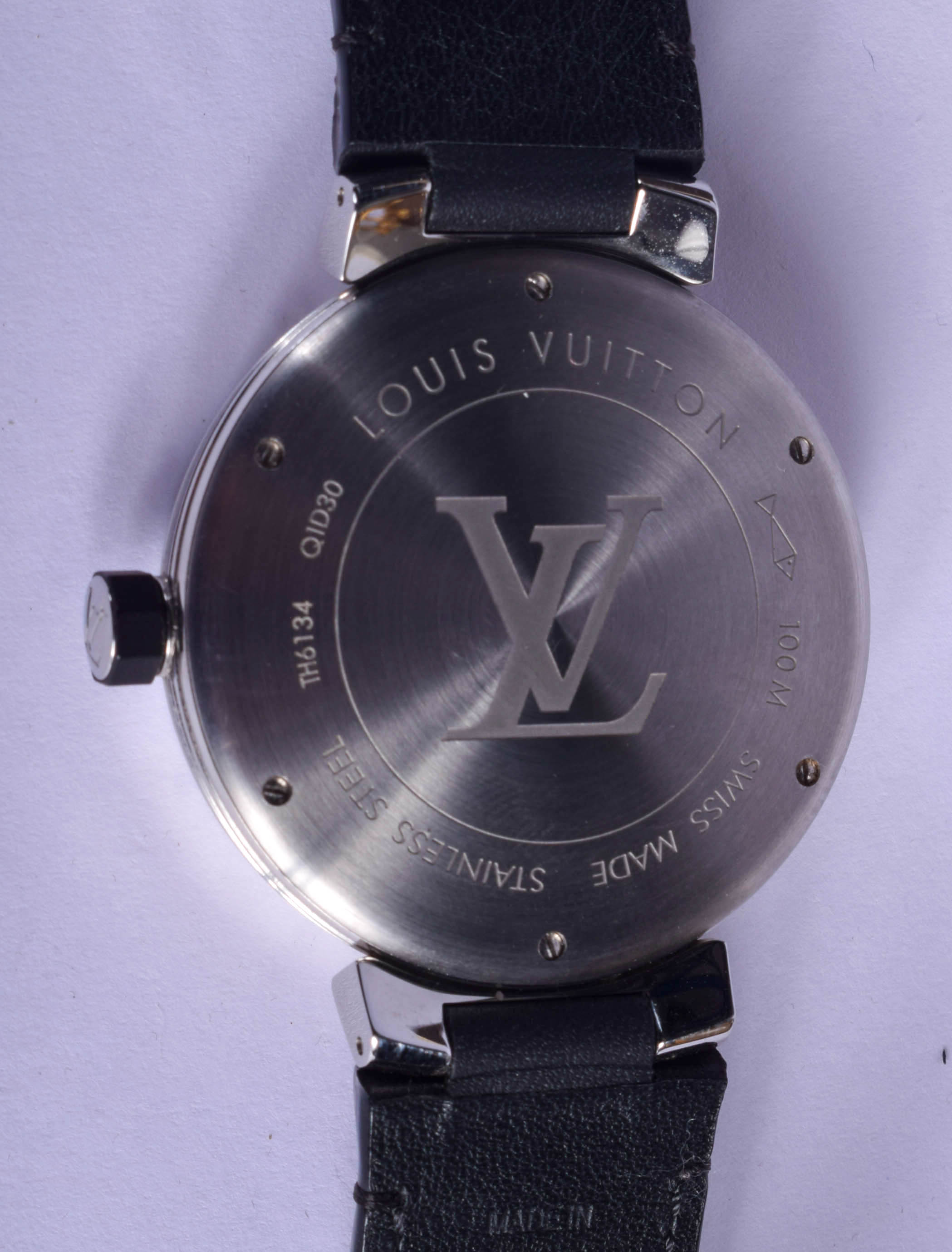 A BOXED LOUIS VUITTON GMT GLOBE WRISTWATCH. 3.5 cm wide. - Image 2 of 3