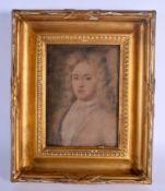 English School (18th Century) Pastel, Male Portrait. Image 27 cm x 18 cm.