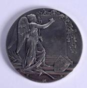 AN ANTIQUE DUTCH MEDALLION depicting William Frederik Hendrik, Prince of Netherlands. 102 grams. 6.5