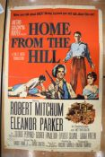 THE BUCKSKIN LADY movie poster, 1957, autographed by Patricia Medina, horizontal and vertical folds,