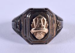 A VINTAGE SILVER USA CLASS RING. 3 grams. L.