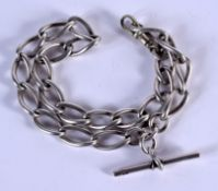 A STERLING SILVER CHAIN. 52 grams. 38 cm long.