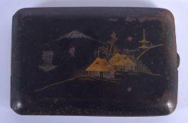 AN EARLY 20TH CENTURY JAPANESE MEIJI PERIOD KOMAI TYPE CIGARETTE BOX. 12 cm x 7 cm.
