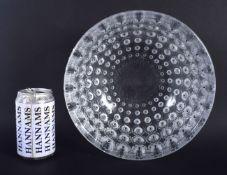 A FRENCH RENE LALIQUE NEMOURS GLASS BOWL. 22 cm x 11 cm.