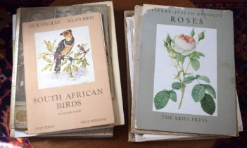 A COLLECTION OF BOOKS OF PRINTS including Redoute Flowers. (qty)