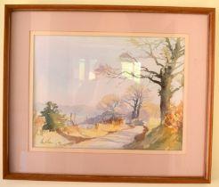 Paul Banning (20th Century) Watercolour, Old Park Lane, Image 35 cm x 45 cm.