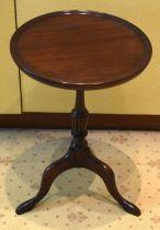 A GEORGE III STYLE TABLE . 50 cm x 31 cm.