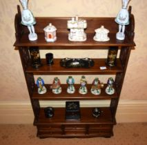 A SET OF FREE STANDING WILLIAM IV TYPE OPEN WORK SHELVES. 105 cm x 60 cm.