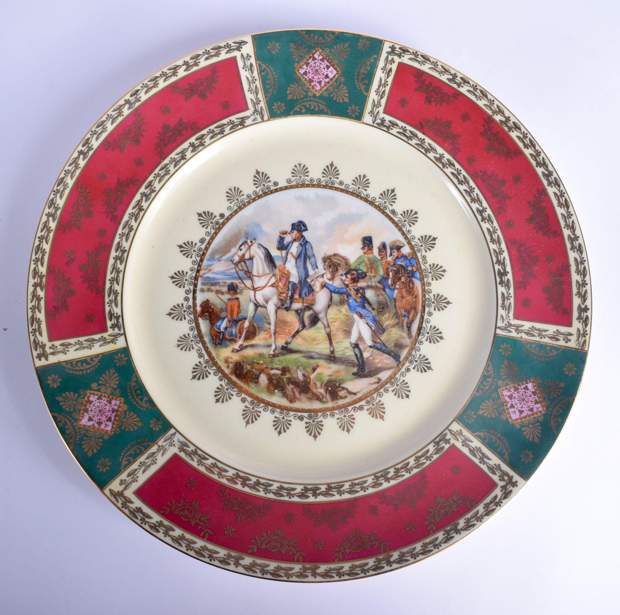A VINTAGE J K CARLSBAD BAVARIA PORCELAIN VIENNA STYLE TEASET decorated with Napoleonic scenes. Large - Image 4 of 22