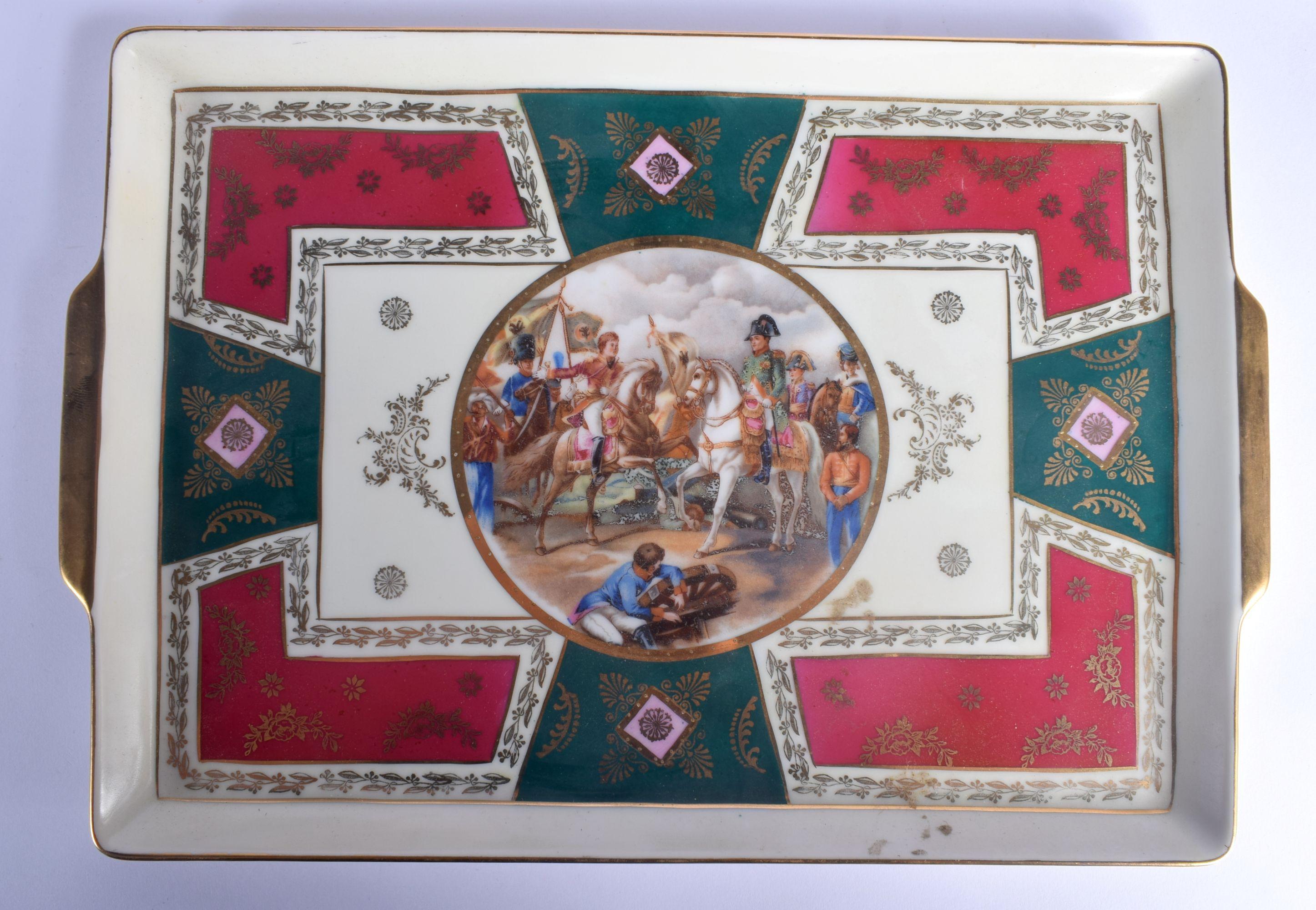 A VINTAGE J K CARLSBAD BAVARIA PORCELAIN VIENNA STYLE TEASET decorated with Napoleonic scenes. Large - Image 6 of 22