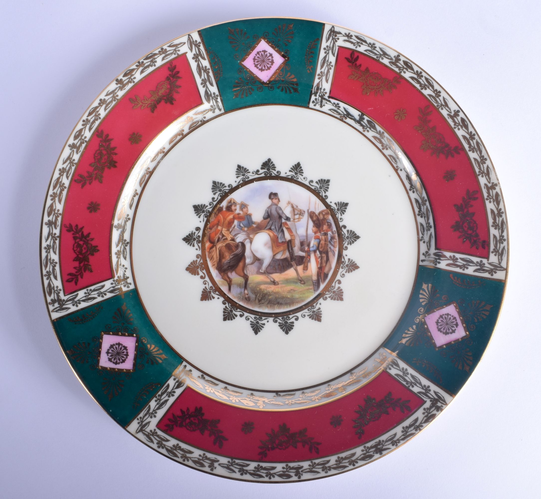A VINTAGE J K CARLSBAD BAVARIA PORCELAIN VIENNA STYLE TEASET decorated with Napoleonic scenes. Large - Image 2 of 22