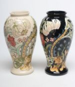 A MOORCROFT GOLDEN LILY VASE, 1994, designed by Sally Tuffin, of inverted baluster form,