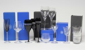 """A COLLECTION OF ST. LOUIS GLASS TABLEWARE including a matching tumbler and red wine, a """"Cerdagne"""""""