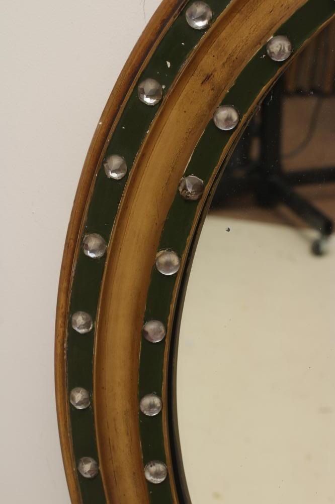 A LATE GEORGIAN GILT WOOD PIER GLASS, early 19th century, the oval plate within a moulded surround - Image 2 of 2