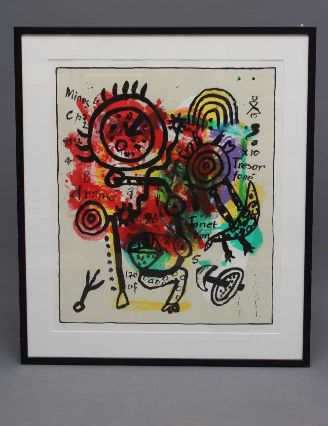 """ALAN DAVIE (1920-2014) """"Tresor Fone Variation IX"""", screen print, signed in pencil and dated 2000,"""