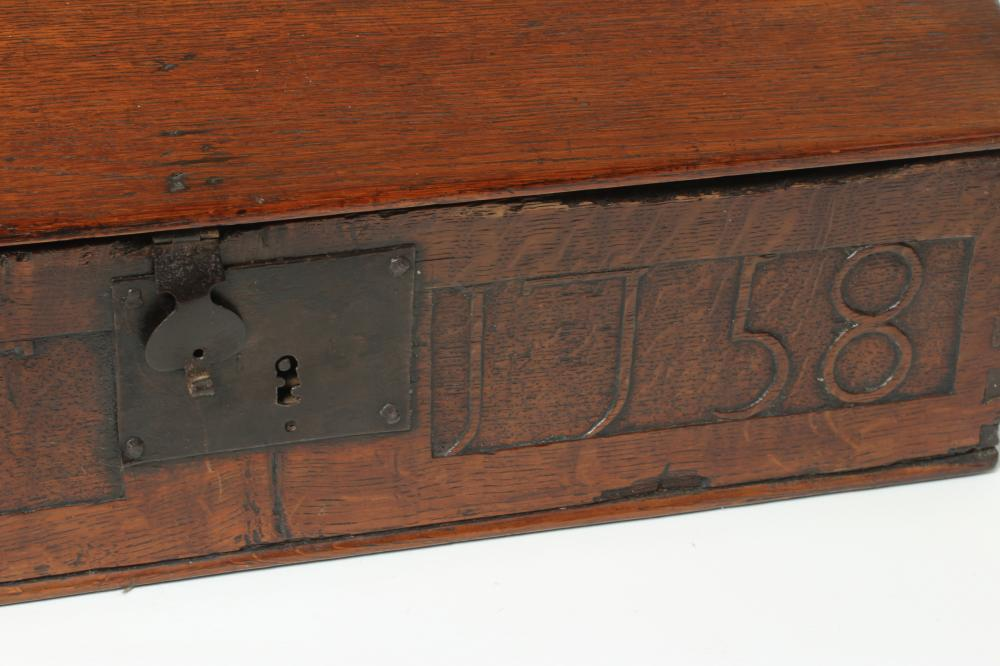 AN EBONY AND BRASS INLAID WRITING BOX, mid 19th century, of oblong form, the folding slope inlaid - Image 2 of 8