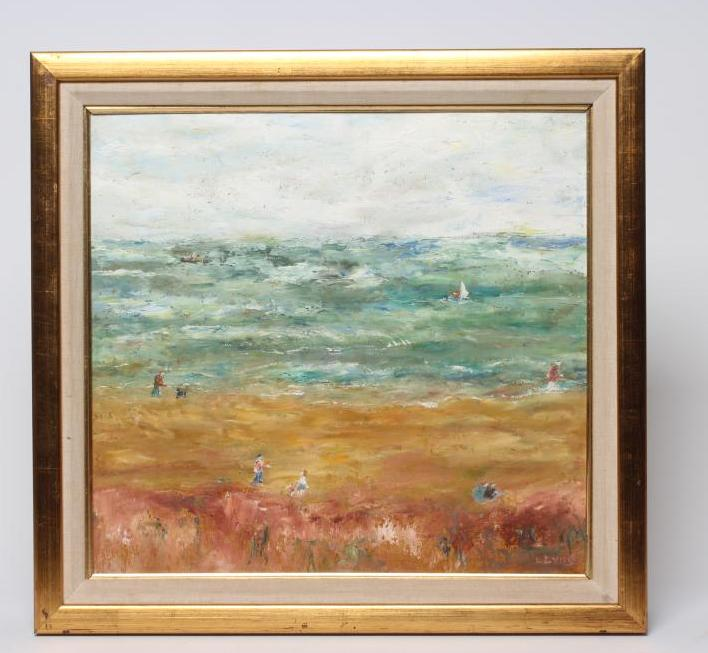 SYLVIA LEVINE (1911-1998), Sussex by the Sea, oil on board, signed, Royal Academy Summer