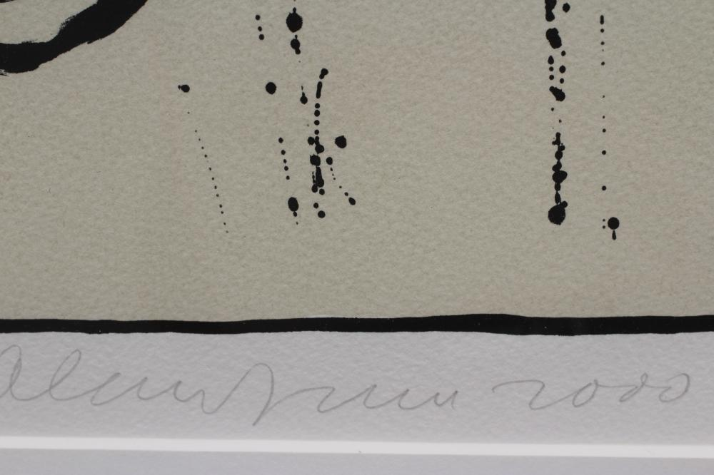 """ALAN DAVIE (1920-2014) """"Tresor Fone Variation IX"""", screen print, signed in pencil and dated 2000, - Image 2 of 2"""