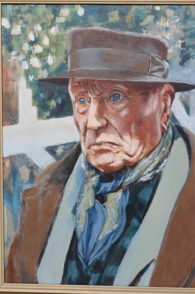 """H.S. WRIGHT (1926-2003), """"Vlaminck in Old Age"""", oil on board, signed and inscribed to reverse and - Image 2 of 3"""