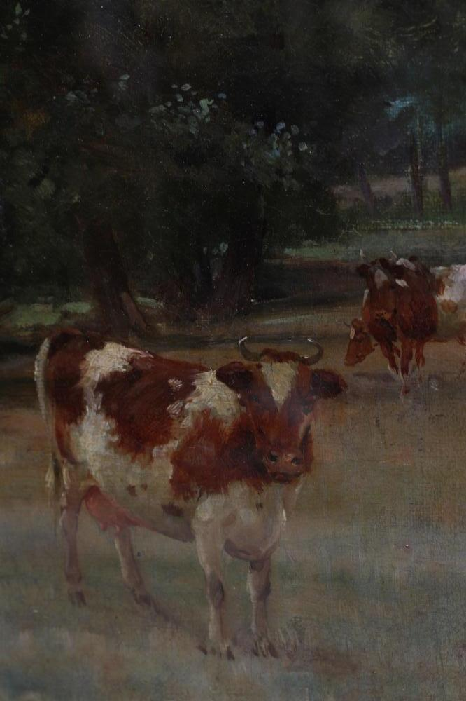 WILLIAM GRANT STEVENSON (1849-1919), Summer Landscape with Cattle Grazing, oil on canvas, signed, 23 - Image 3 of 4