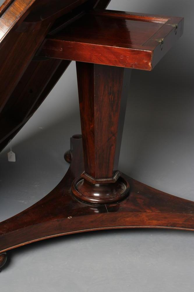 A VICTORIAN ROSEWOOD CENTRE TABLE, the tilt top with moulded edge and plain frieze raised on faceted - Image 3 of 3