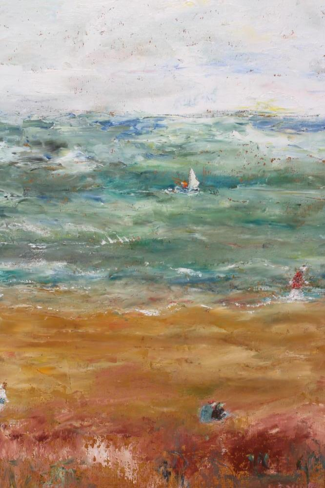 SYLVIA LEVINE (1911-1998), Sussex by the Sea, oil on board, signed, Royal Academy Summer - Image 2 of 5