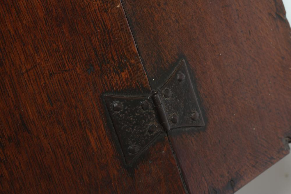 AN EBONY AND BRASS INLAID WRITING BOX, mid 19th century, of oblong form, the folding slope inlaid - Image 3 of 8