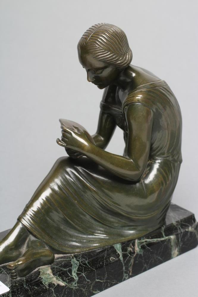BY AND AFTER PIERRE LE FAGUAYS (1892-1962), a pair of Art Deco bronze figural bookends cast as a - Image 7 of 8