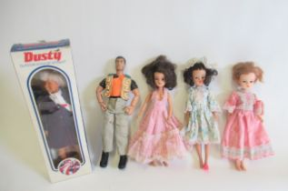 Three Sindy dolls, two of which are 2 Gen 1077, the other marked with Sindy trademark and numbered