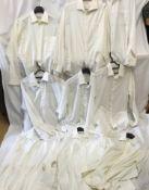 Nine Gentleman's white cotton shirts, 2 x Yves Saint Laurent, 1 x Christian Dior, 1 x Kurt Geiger