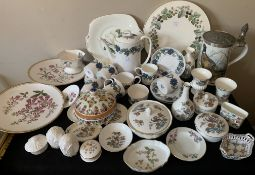 A large selection of ceramics to include a 15 piece Susie Cooper coffee service, Royal Worcester