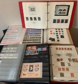 Five various British stamp albums.