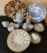 Ceramics to include Duchess china coffee service, early 19thC tea bowls and saucers, 6 Worcester