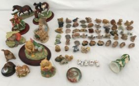 Collection of Wade Whimsies, 54 assorted plus 3 damaged including Disney characters and Border