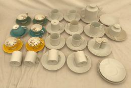 A Thomas Germany 28 part white china tea set to include: teapot, cream jug, sugar bowl, 10 cups 8cms