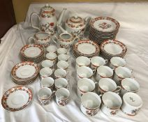 Vista Alegre Portugal, tea and coffee service 63 pieces to include tea and coffee pot, milk jug,