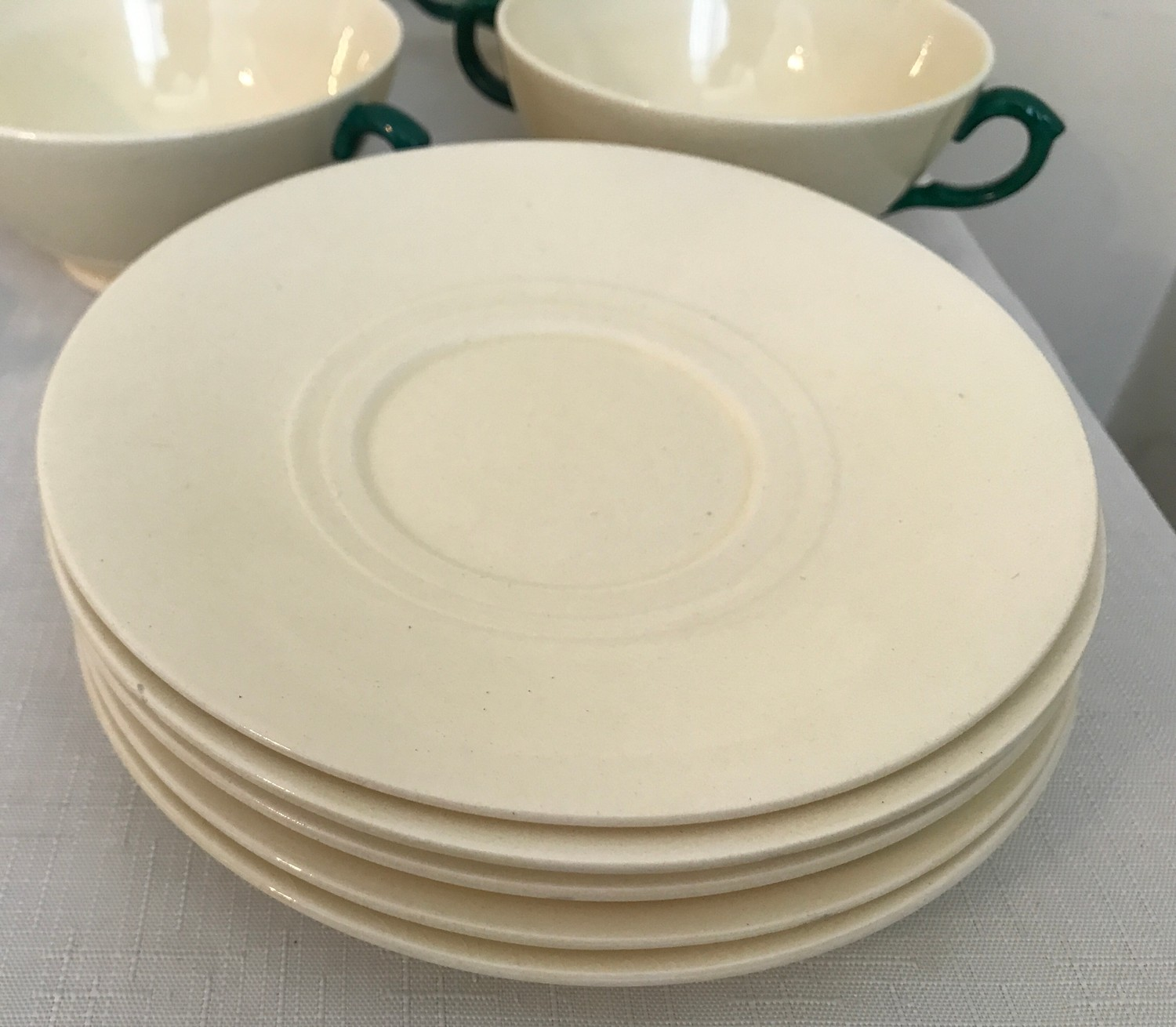 """A part Royal Doulton 36 piece tea service """"Old Leeds Sprays"""" to include large plate 28.5cms, cake - Image 5 of 6"""