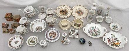 """A large collection of pottery to include Royal Doulton """"Bramley Hedge"""": one teapot, milk jug,"""