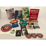 A collection of tobacconist shop advertising cards and stickers, cards including Edmond, Exclusiv,