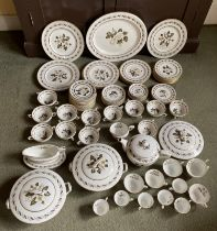 Royal Worcester Bernina part dinner service. Approx 80 pieces. Condition ReportTo include 1 meat