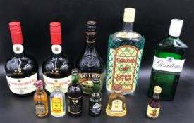 A selection of bottled spirits to include 1 litre Gordon's Gin, 1 x 70cl Gordon's gin, 1 x70cl